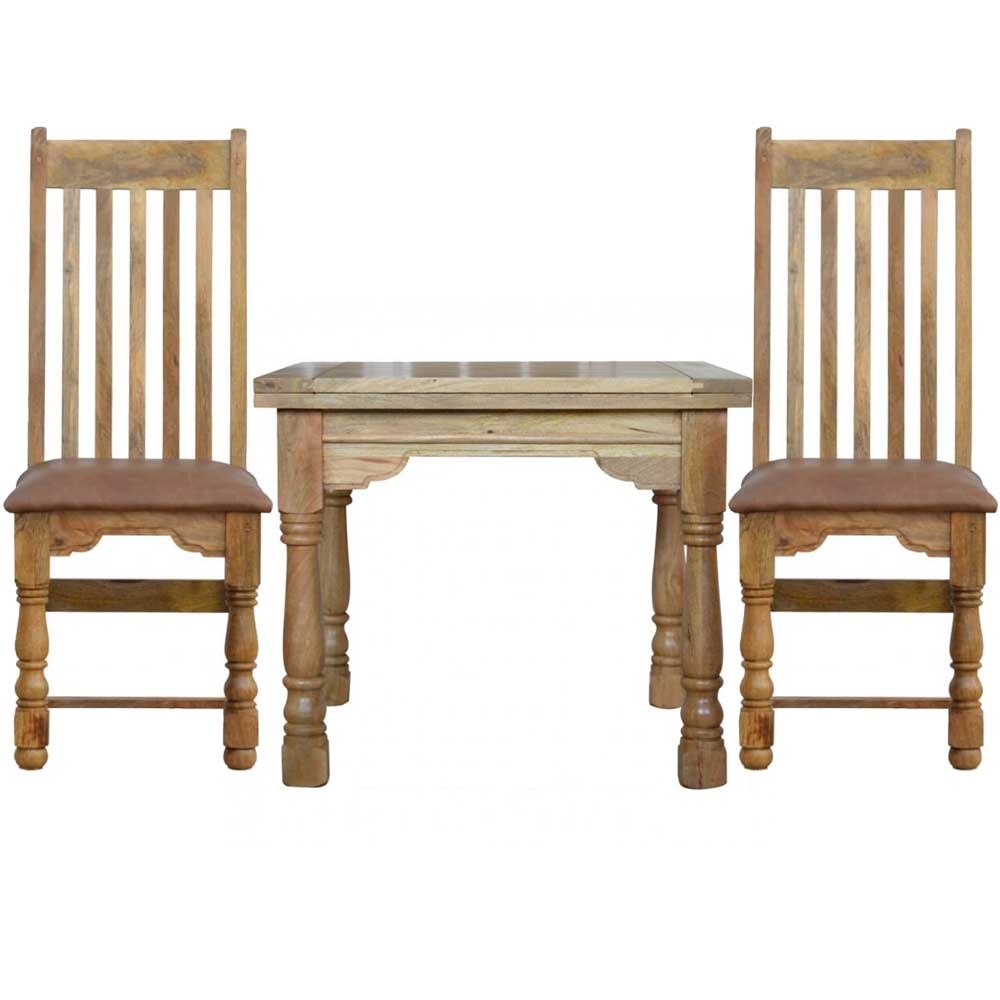 165cm Granary Royale Extending Dining Table 4 Vintage Chairs | Furniture Supplies UK