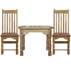 165cm Granary Royale Extending Dining Table 6 Vintage Chairs | Furniture Supplies UK