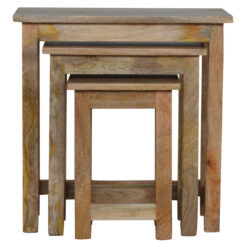 IN064 - Country Solid Wood Stool Set of 3