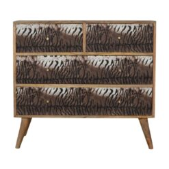 IN1067 - Tiger Drawer Print Chest