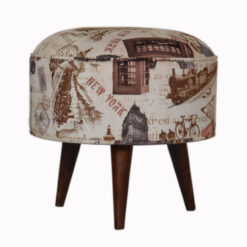 IN1271 - City Print Footstool