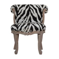 IN1276 - Zebra Printed Studded Chair