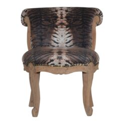 IN1278 - Tiger Printed Studded Chair