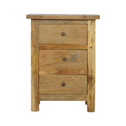 IN176 - Country Style Bedside with 3 Drawers