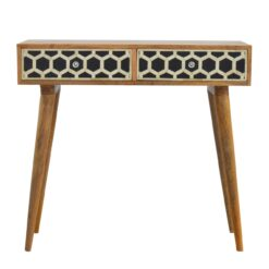IN319 - Bone Inlay Console Table