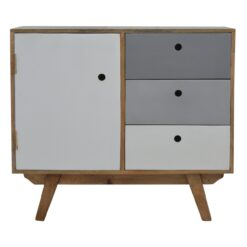 IN331 - Two Tone Hand Painted Cabinet