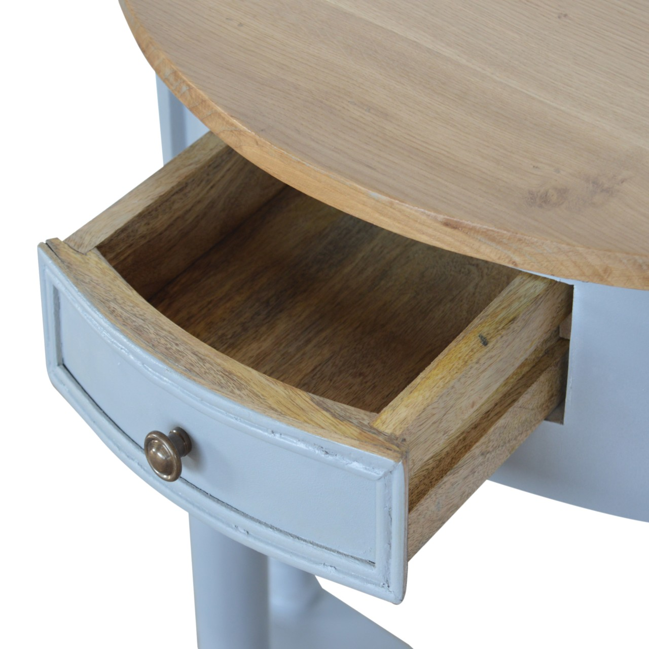 IN505-Grey-Painted-1-Drawer-Serpentine-Table-with-Turned-Legs-5