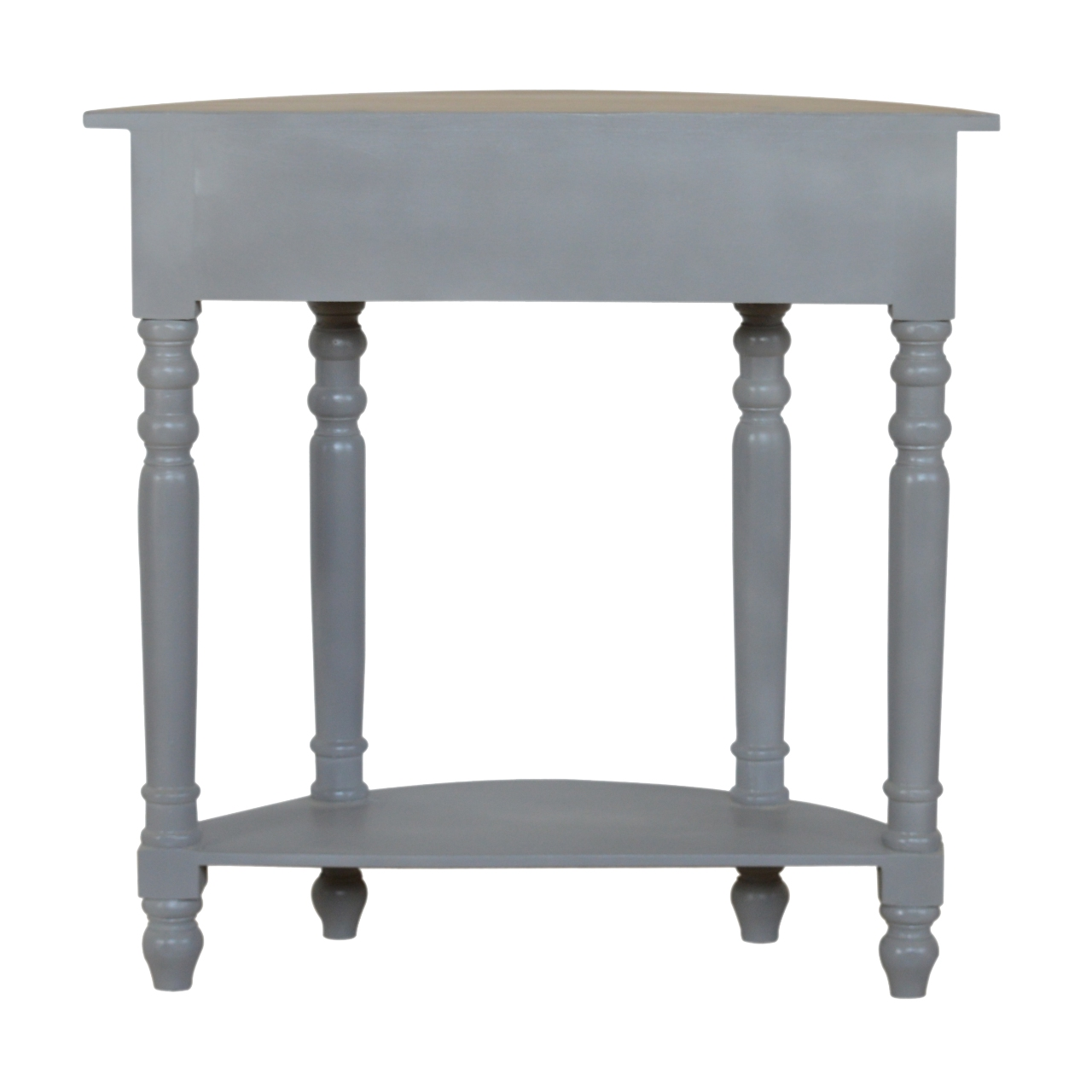 IN505-Grey-Painted-1-Drawer-Serpentine-Table-with-Turned-Legs-8