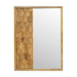 IN540 - Pineapple Carved Sliding Wall Mirror Cabinet