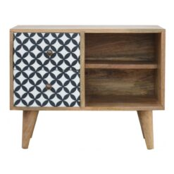 IN727 - District Diamond Patterned Mini Cabinet