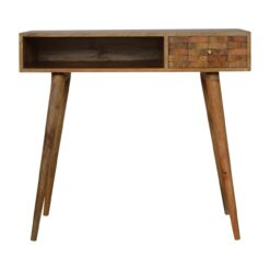 IN744 - Tile Carved Writing Desk with Open Slot