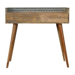 IN982 - Bone Inlay Gallery Back Console Table