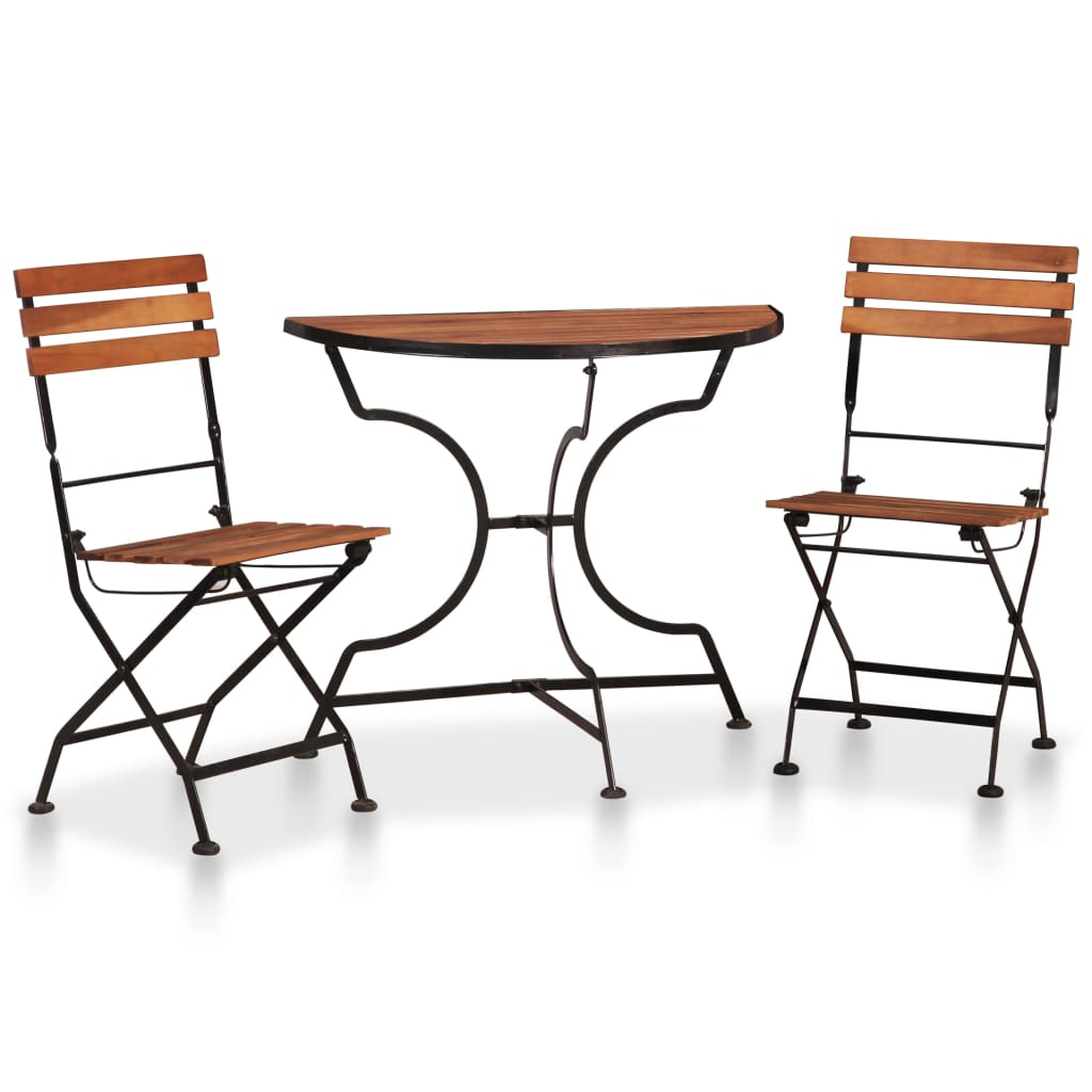 3 Piece Bistro Set Solid Acacia Wood | Furniture Supplies UK