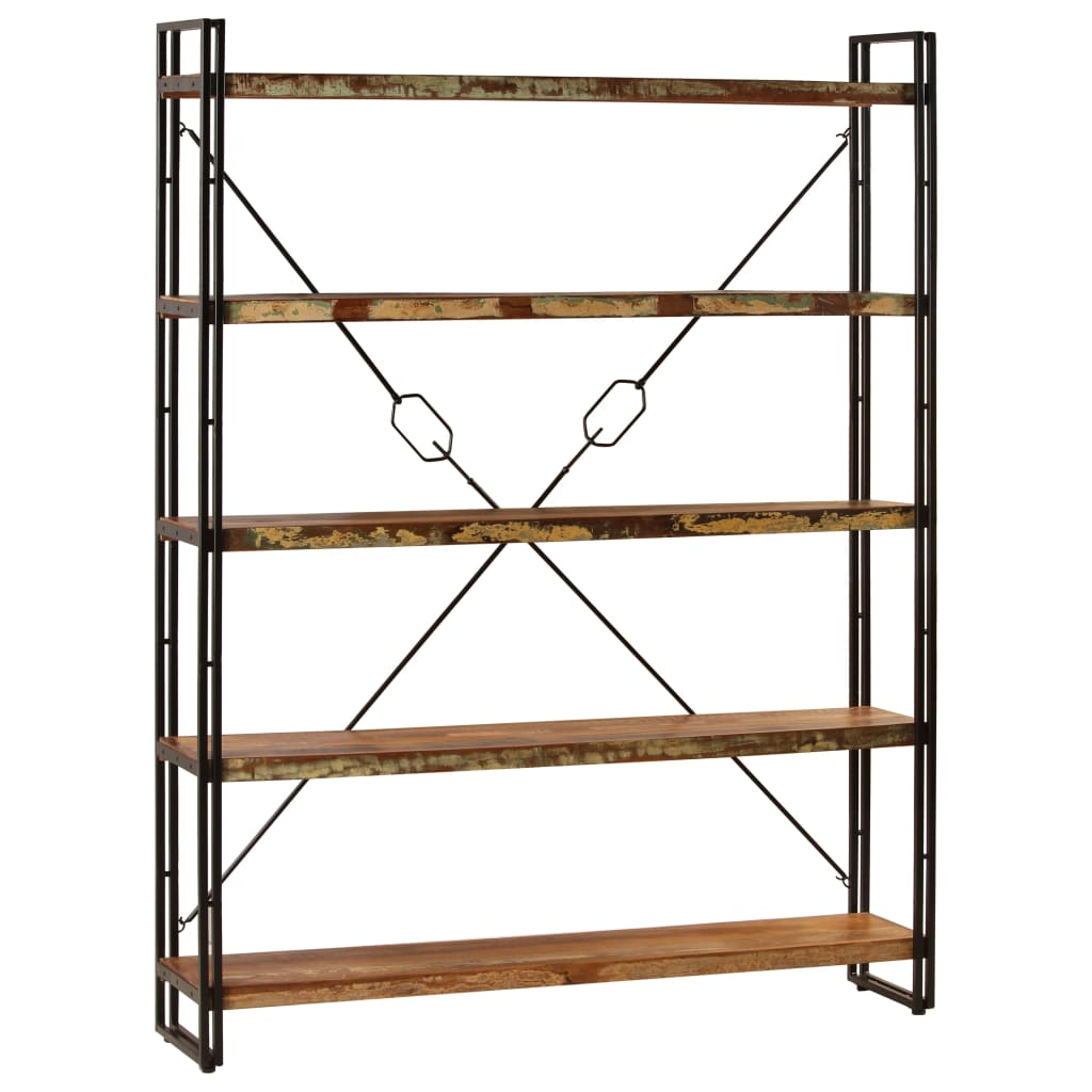 5-Tier Bookcase 180x30x140 cm Solid Reclaimed Wood   Furniture Supplies UK