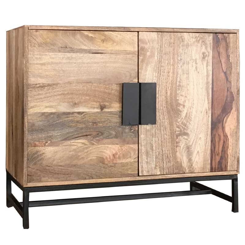 Agra Light Mango 2 Door Sideboard | Furniture Supplies UK