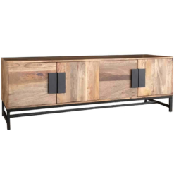 Agra Light Mango 4 Door Plasma TV Unit | Furniture Supplies UK