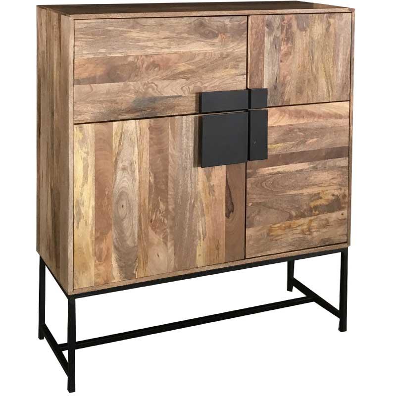 Agra Light Mango 4 Door Tall Cabinet | Furniture Supplies UK
