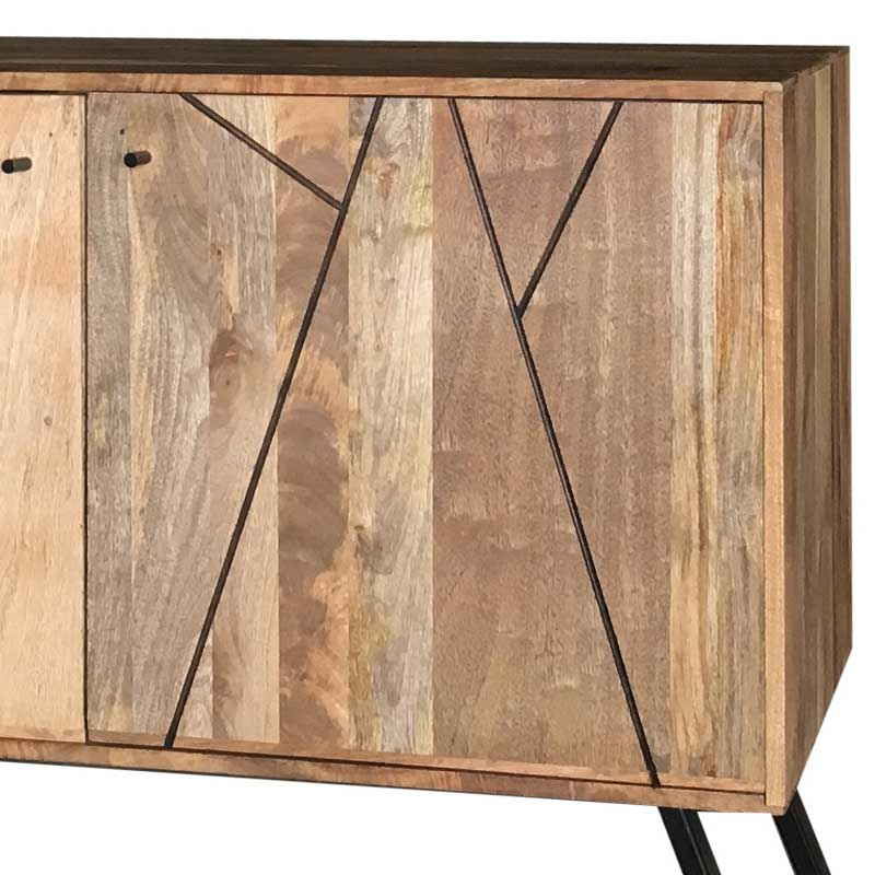 Mango Wood|Wood & Metal | Sideboard | AMR-113