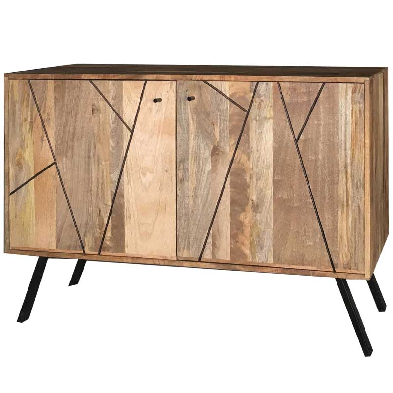 Amar Retro Vintage Light Mango 2 Door Sideboard | Furniture Supplies UK