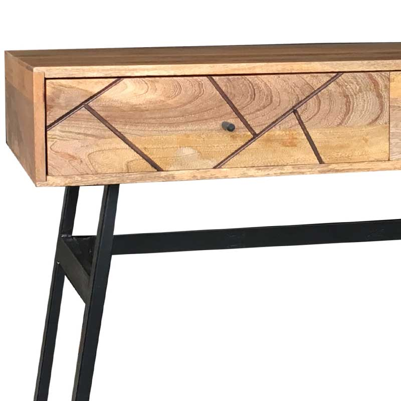 Amar Retro Vintage Light Mango Console Table | Solid Wood |