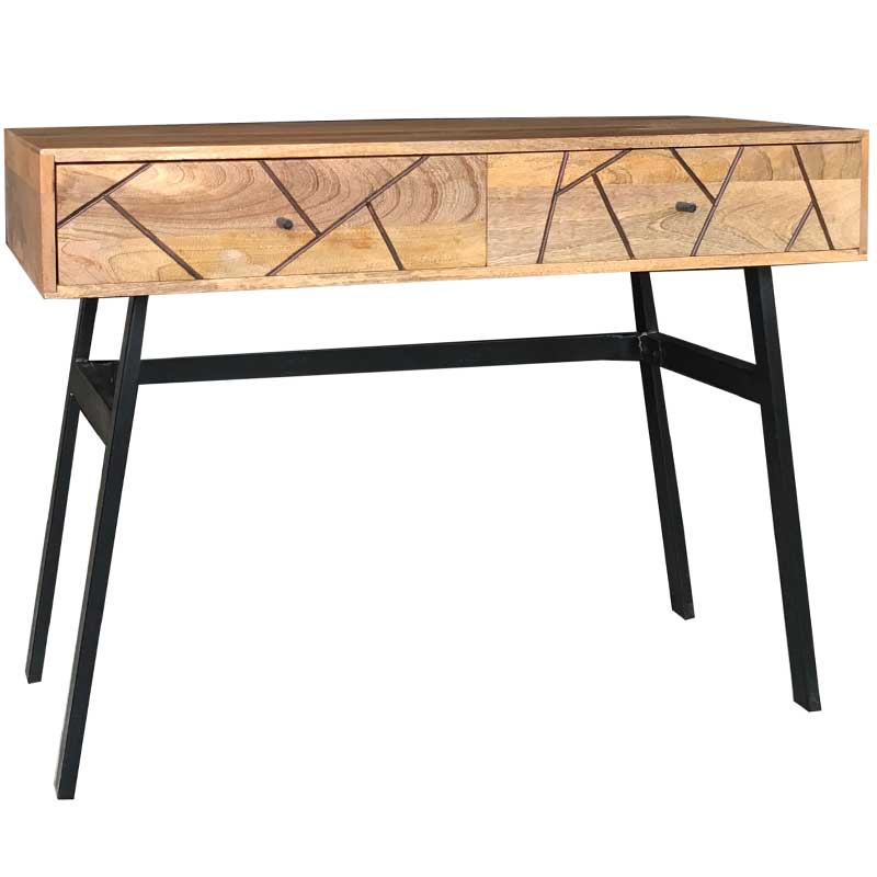 Amar Retro Vintage Light Mango Console Table | Furniture Supplies UK