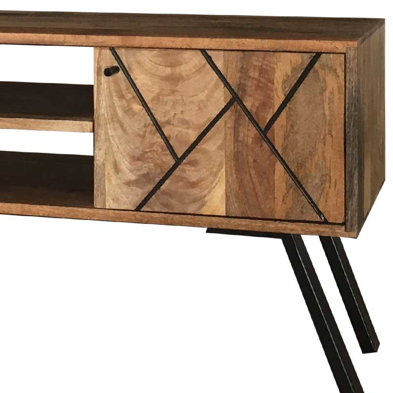 Mango Wood|Wood & Metal | TV Stand | AMR-114