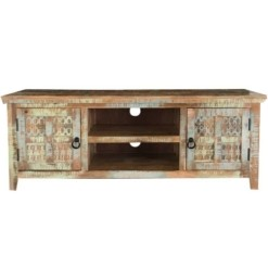 Aravali 2 Door Plasma TV Unit | Mango Wood | Furniture Supplies UK
