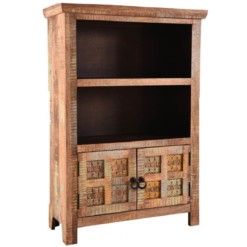 Aravali 2 Door Small Bookcase | Mango Wood | Furniture Supplies UK