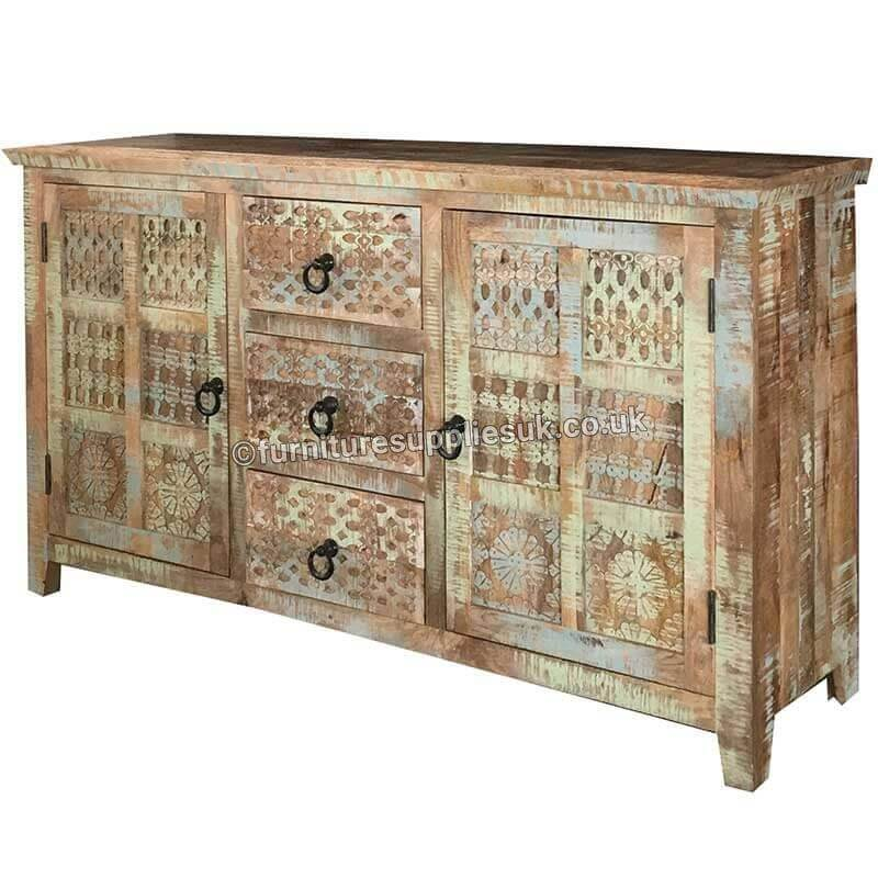 Aravali 3 Drawer 2 Door Sideboard | Mango Wood | Solid Wood |