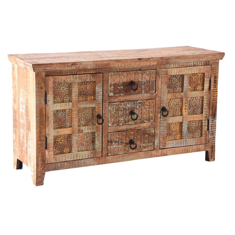 Aravali 3 Drawer 2 Door Sideboard | Mango Wood | Furniture Supplies UK