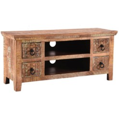 Aravali Plasma TV Unit | Mango Wood | Furniture Supplies UK