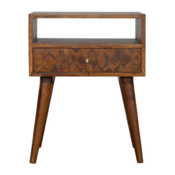 Assorted Chestnut Bedside With Open Slot In1007