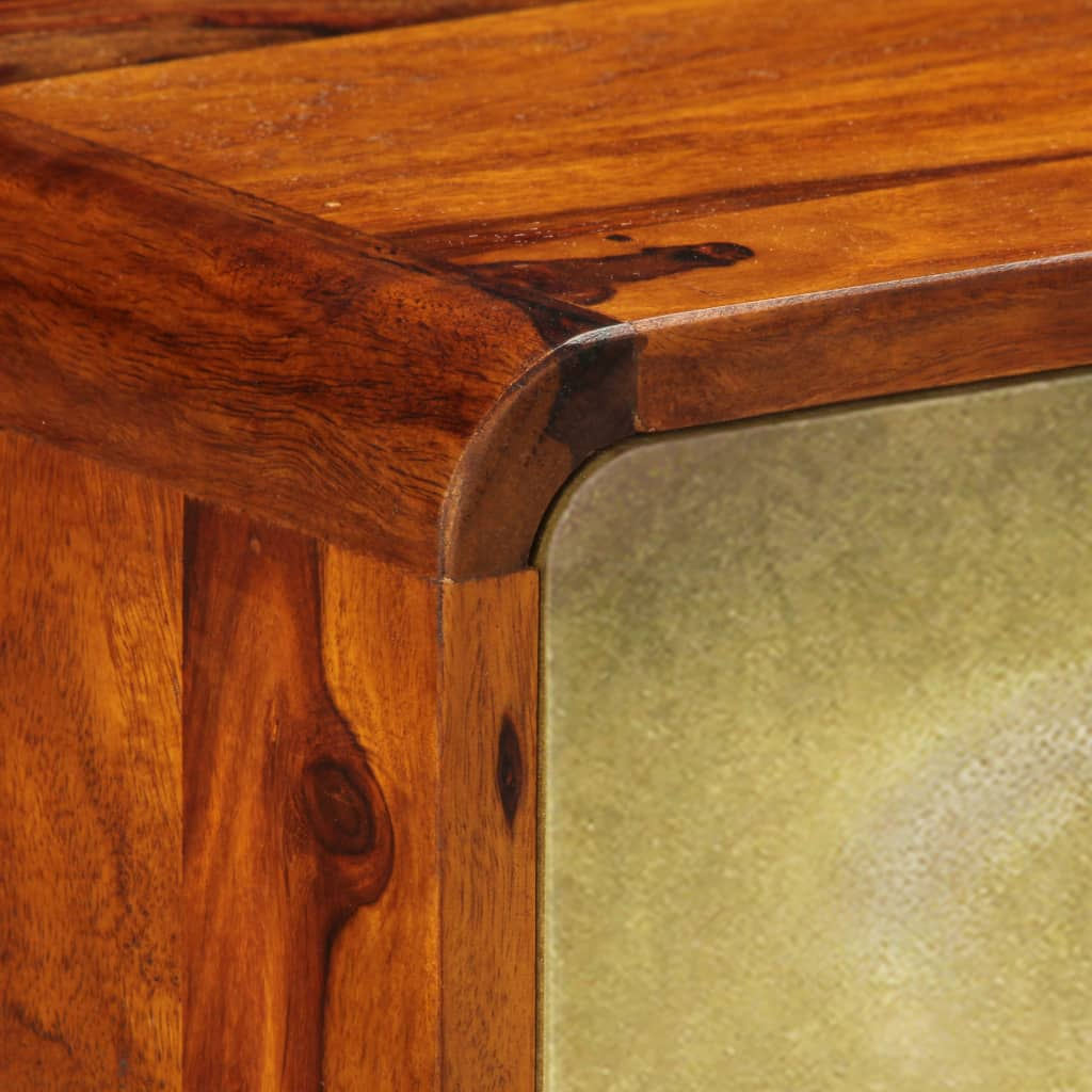 Banner Sideboard Solid Sheesham Wood with Golden Print 120x30x80 cm |  | Brown