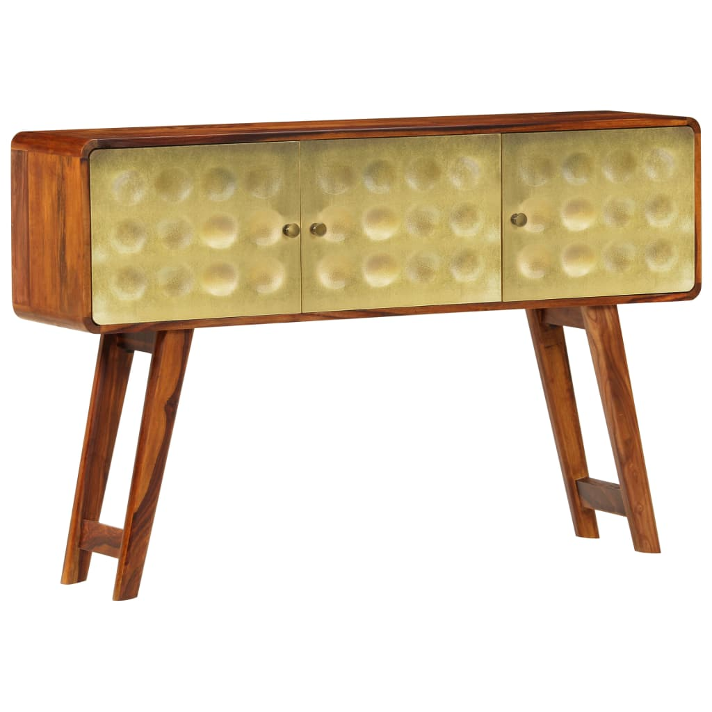 Banner Sideboard Solid Sheesham Wood with Golden Print 120x30x80 cm | Furniture Supplies UK
