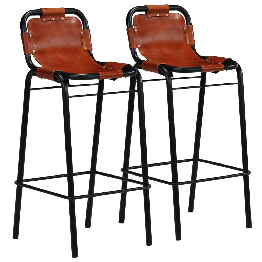 Bar Set 3 Pieces Solid Reclaimed Wood and Genuine Goat Leather