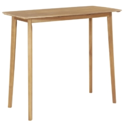 Bar Table Solid Acacia Wood 120x60x105 cm | Furniture Supplies UK