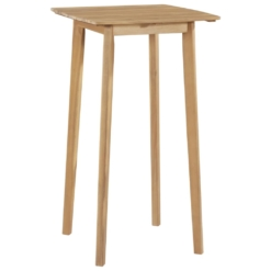 Bar Table Solid Acacia Wood 60x60x105 cm | Furniture Supplies UK