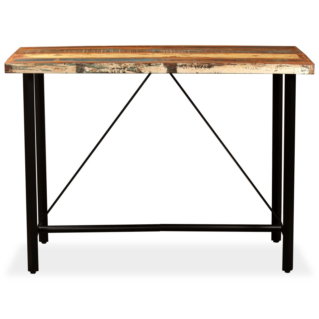 Bar Table Solid Reclaimed Wood 150x70x107 cm |  | Brown