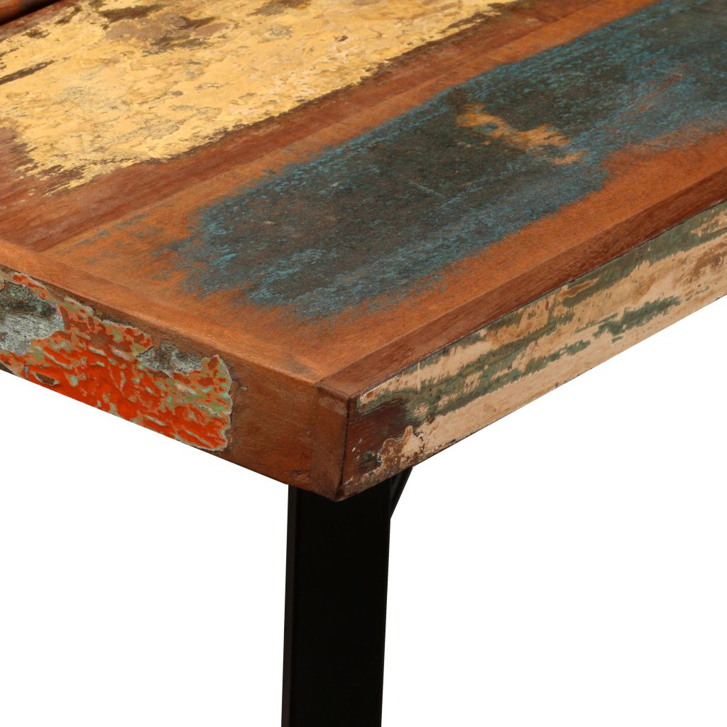 Bar Table Solid Reclaimed Wood 150x70x107 cm