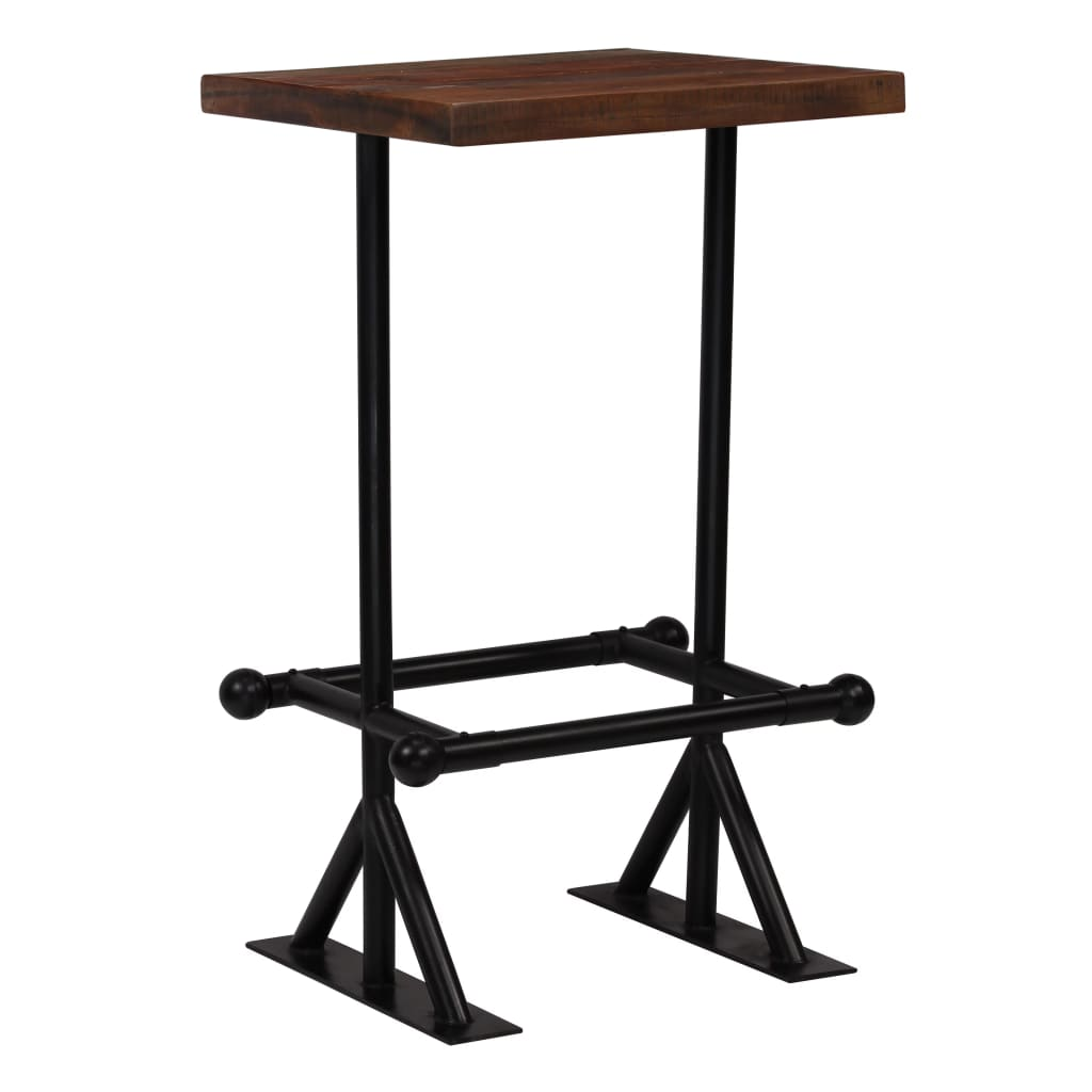 Bar Table Solid Reclaimed Wood Dark Brown 60x60x107 cm | Furniture Supplies UK