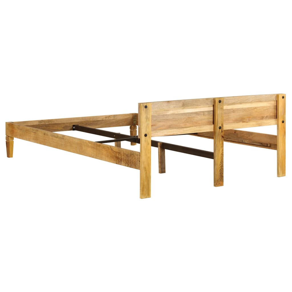 Bed Frame Solid Mango Wood 140x200 cm
