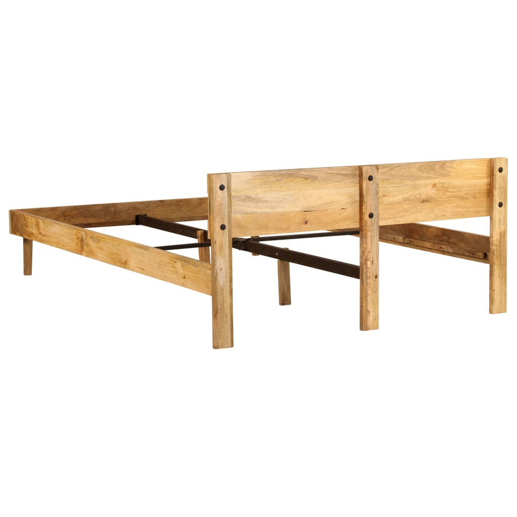 Bed Frame Solid Mango Wood 160x200 cm