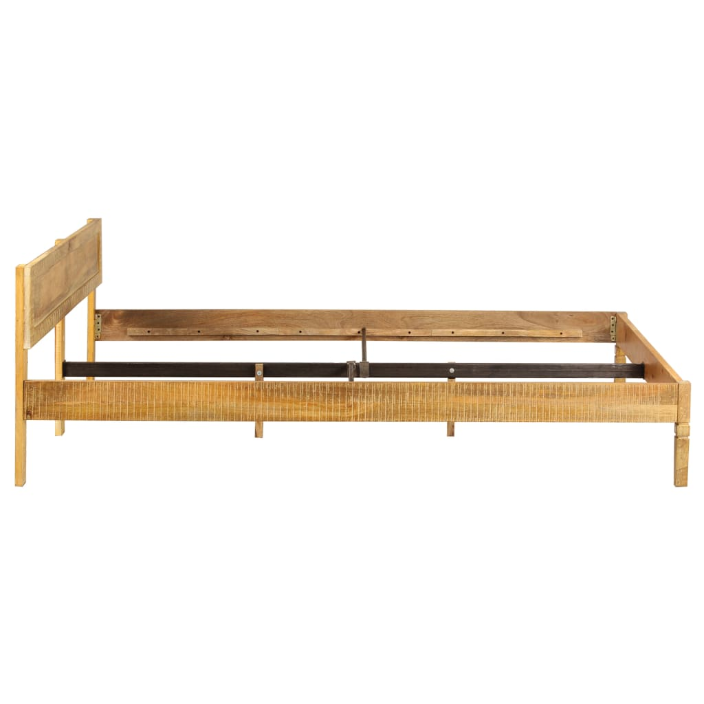 Bed Frame Solid Mango Wood 180x200 cm