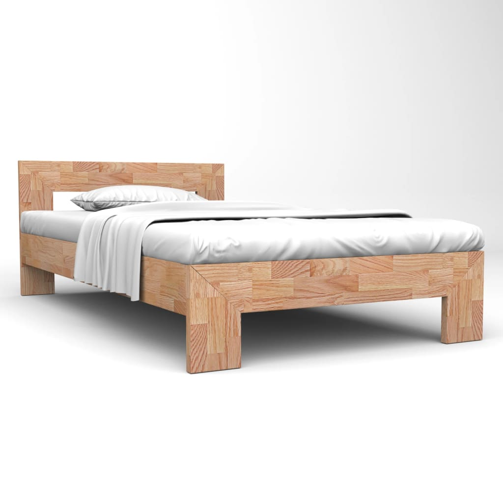Bed Frame Solid Oak Wood 160x200 cm | Furniture Supplies UK