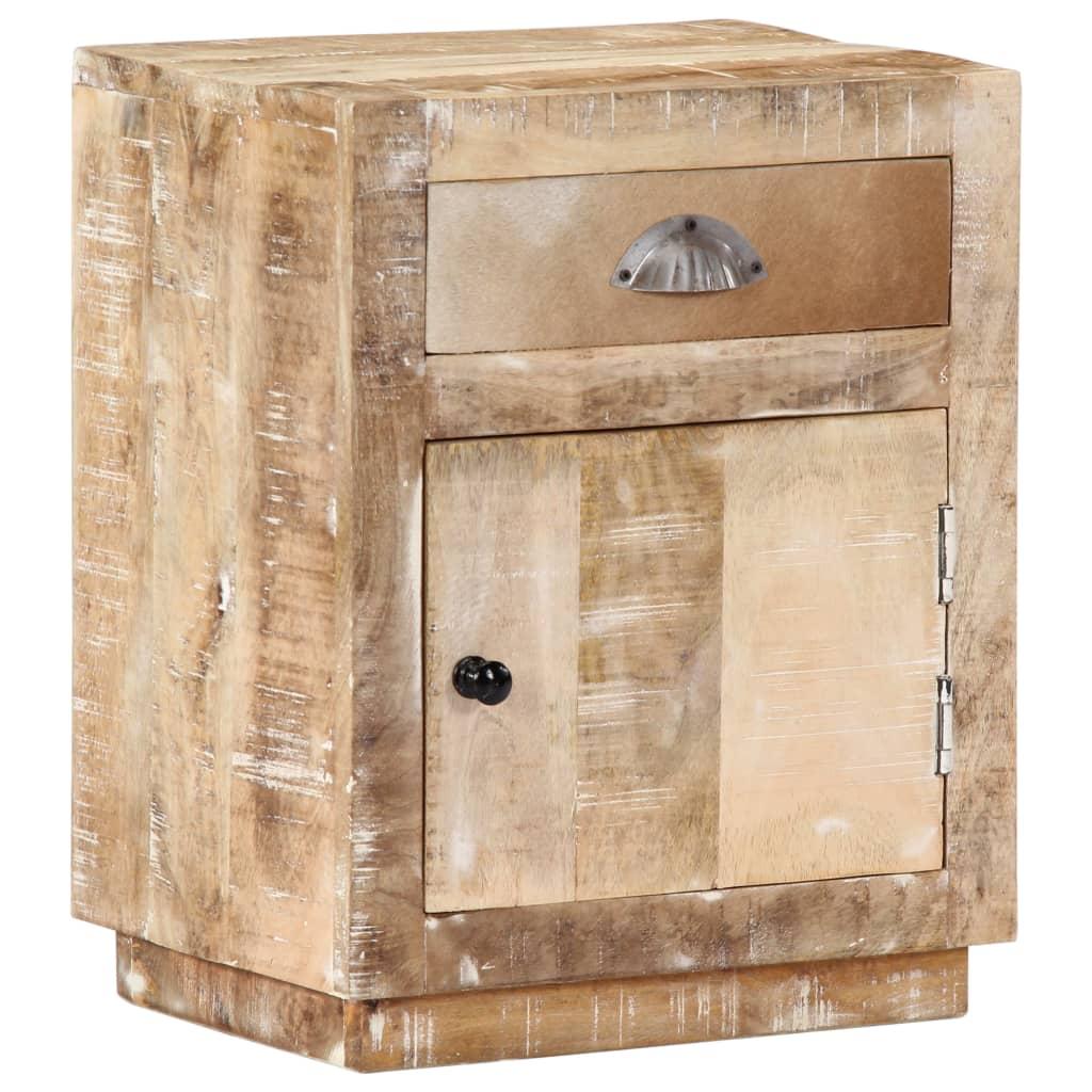 Bedside Cabinet 40x30x50 cm Solid Mango Wood | Furniture Supplies UK