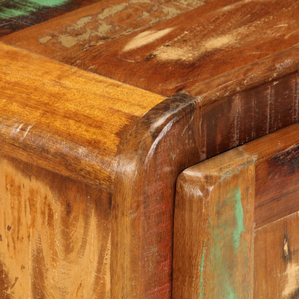 Bedside Cabinet 50x30x50 cm Solid Reclaimed Wood |  | Multicolour
