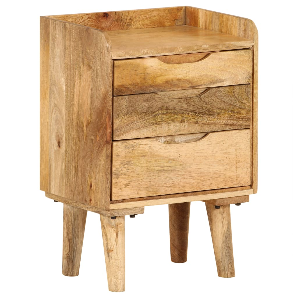 Bedside Cabinet Solid Mango Wood 40x30x59.5 cm | Furniture Supplies UK