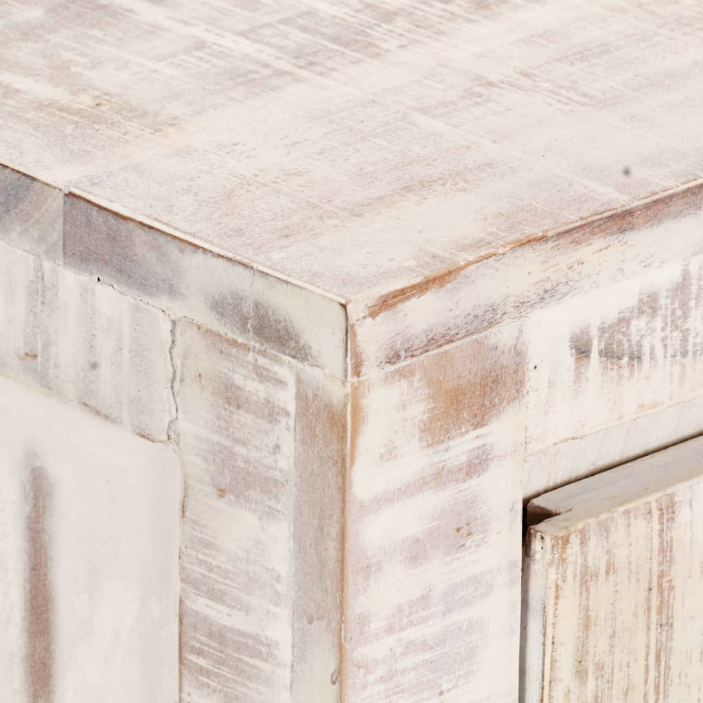 Bedside Cabinet White 40x30x50 cm Solid Acacia Wood |  | Brown