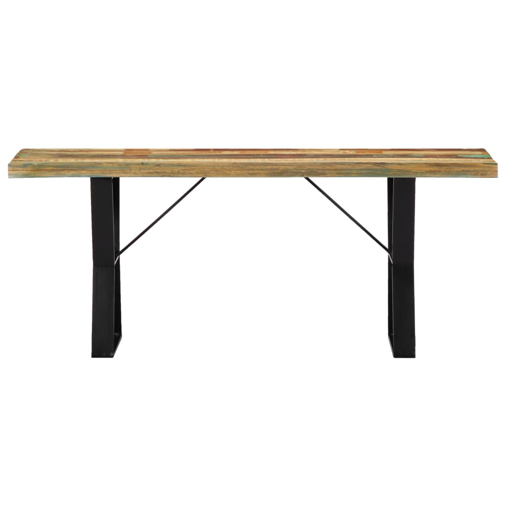 Bench 110 cm Solid Reclaimed Wood |  | Multicolour