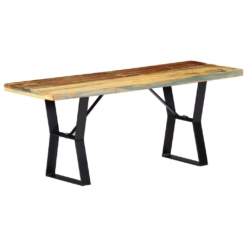 Bench 110 cm Solid Reclaimed Wood | Furniture Supplies UK